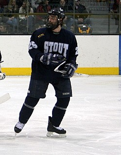 Junior forward Derek Hanson's 17 goals and 25 assists have paced the Stout attack this season (photo: Matthew Webb).
