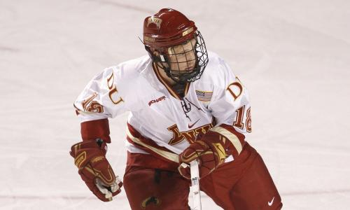 Forward Luke Salazar has been a valuable addition to the Denver Pioneers.