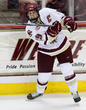 For Brock Bradford and the defending national champion Eagles, the path to the NCAA tournament doesn't have to run through the Hockey East playoff title.