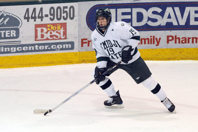 Bemidji State's Matt Read had six points in the two exhibition wins over the U.S. NTDP (photo: BSU photo services).