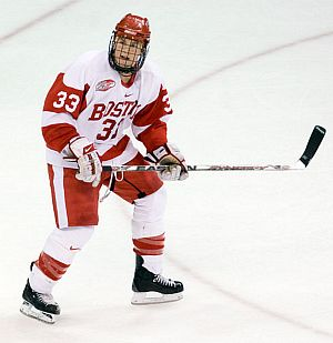 Colin Wilson and Boston University take on nemesis Boston College in just one of the great rivalries on the ice this weekend.