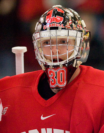 Cornell has always been about defense and goaltending; that's no different this year, thanks in part to Ben Scrivens (photo: Melissa Wade).