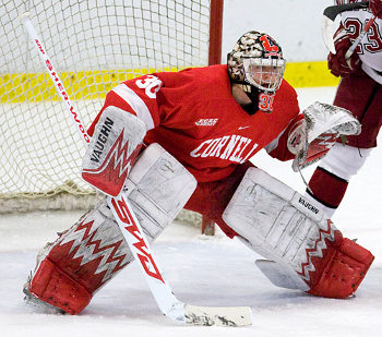 Cornell will need Ben Scrivens this weekend if the Big Red want to keep playing into next weekend and beyond (photo: Melissa Wade).