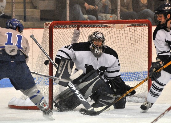 Senior Doug Raeder has had a solid start for the Panthers, going 3-0 with a 1.67 GAA (photo: Tim Costello).