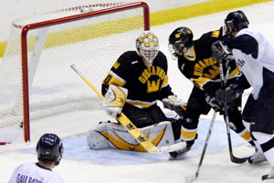 Stout ties the game late in the third (photo: Angelo Lisuzzo).