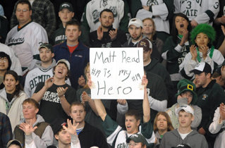 Bemidji State fans left no doubt as to their feelings about the CHA tournament MVP.