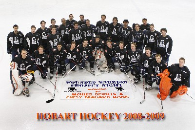 The Hobart Statesmen in their Wounded Warrior sweaters (photo: Mark Taylor).