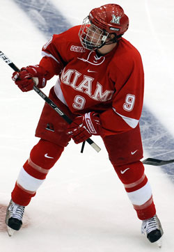 Tommy Wingels and Miami are in the program's first-ever Frozen Four (photo: Tim Brule).