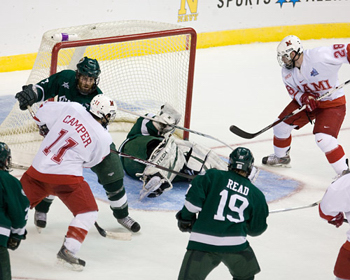 Miami scores their first goal. Photo by Melissa Wade.