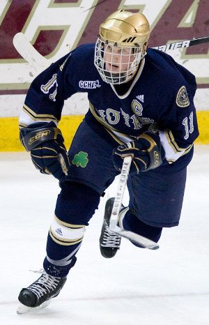 Senior Erik Condra was part of a 2008-09 team that ranked as the most experienced at the end of the season, but what did it get the Irish? A first-round exit from the NCAA tournament (photo: Melissa Wade).