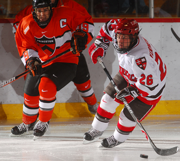Princeton and St. Lawrence (pictured: Brandan Kushniruk and Travis Vermeulen) are two of the four ECAC Hockey teams battling for PairWise position (photo: Tara Freeman).