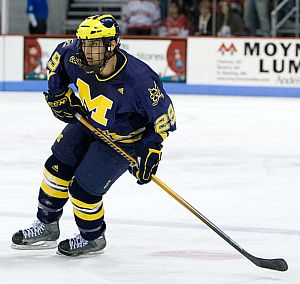 Louie Caporusso is among the Wolverines keeping the team loose off the ice and productive on it (photo: Melissa Wade).