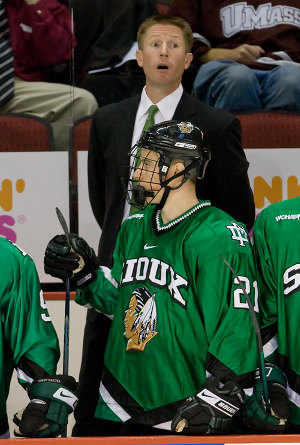 North Dakota has developed a certain pattern of success under head coach Dave Hakstol (photo: Melissa Wade).