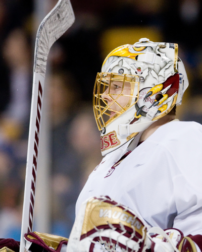 John Muse is back as Boston College's No. 1 goaltender (photo: Melissa Wade).