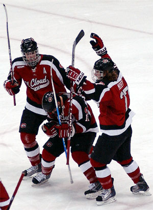 St. Cloud State is winless in seven trips to the NCAA tournament (photo: Jason Waldowski).