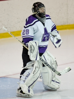 All-American goalie Cole Anderson returns to lead Amherst in search of back-to-back NESCAC titles (photo: Tim Costello).