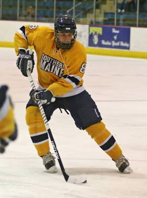 Defenseman Paul Conter will look to be a big part of the Southern Maine offense when the Huskies host Skidmore this weekend (photo by Jason Johns).