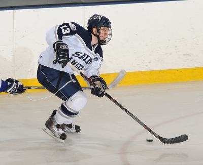 Captain Coleman Noonan will drive St. Anselm to capture the NE-10 Conference championship for D-II teams in New England (photo: Gil Talbot).