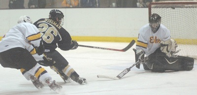 Williams goaltender Ryan Purdy will backstop the Ephs towards their first conference title (photo: Tim Costello).