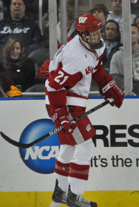 Derek Stepan had two goals and two assists Thursday against RIT (photo: Candace Horgan).