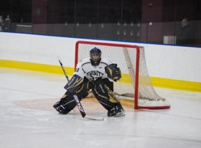 Trinity netminder Wes Vesprini looks forward to more offensive support from his teammates.