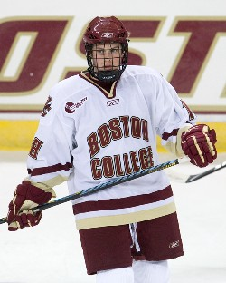 Kenny Ryan played in two exhibition games for Boston College before leaving school (photo: Melissa Wade).