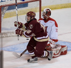 Miami's loss to Boston College in the 2008 regional final was its third straight season-ender against the Eagles (photo: Melissa Wade).