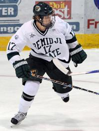Jamie MacQueen scored the game winner for Bemidji State against Niagara last Saturday (photo: BSU Photo Services).