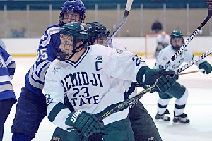 Chris McKelvie scored a historic goal for Bemidji State last Friday -- the game-winner in an upset of No. 1 Miami (photo: BSU Photo Services).