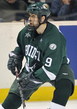 Chris Peluso's draft rights went from Pittsburgh to Toronto at the NHL trade deadline (photo: BSU Photo Services).