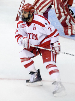 Defenseman Brian Strait will forgo his senior season at Boston University to sign with the Pittsburgh Penguins (file photo: Melissa Wade).