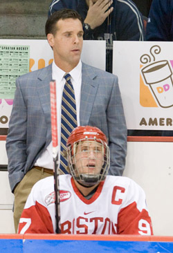 David Quinn spent five seasons as an assistant to Jack Parker at Boston University (file photo: Melissa Wade).