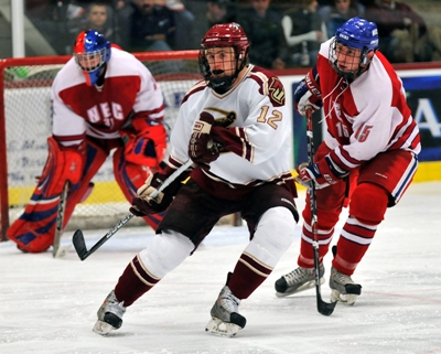 Freshman Blake Forkey leads the unbeaten Cadets in goals and points this season.