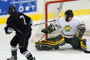 Chris Cerbino scores the first goal of the game for Morrisville (photo: Angelo Lisuzzo).