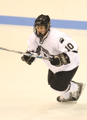 Bowdoin's Graham Sisson looks to add to his power play goal total and keep the Polar Bears atop the NESCAC standings.