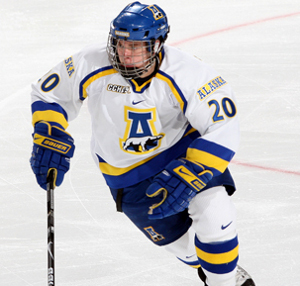 Dion Knelsen's 19 goals and 42 points lead the way for Alaska (photo: Alaska Athletics).