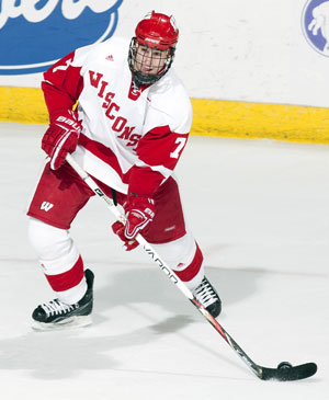 Wisconsin's Brendan Smith is the nation's top-scoring defenseman with 15 goals and 47 points (photo: Wisconsin Athletics).