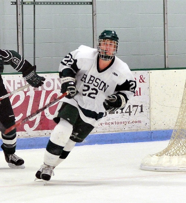 With 13 points in his last five games, junior Terry Woods has led Babson to second place in the ECAC East (photo: Babson SID).