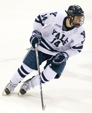 Broc Little leads Yale with 26 goals and 40 points (photo: Melissa Wade).