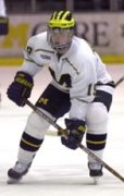 Andy Hilbert left school to sign with Boston, but didn't get the NHL playing time he expected. (USCHO file photo)