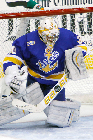 2 Dec 11: Kevin Kapalka (LSSU - 30)  Ohio State beats Lake Superior State at Value City Arena in Columbus, OH. (©Rachel Lewis)