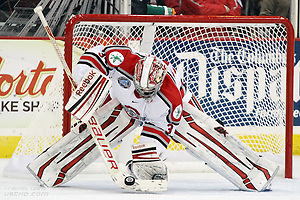 9 Nov 12:  Brady Hjelle (OSU - 34)  Ohio State opens at home against the University of Alaska-Fairbanks at Value City Arena in Columbus, OH.  The Buckeyes beat the Nanooks in a shootout 2-1. (©Rachel Lewis)