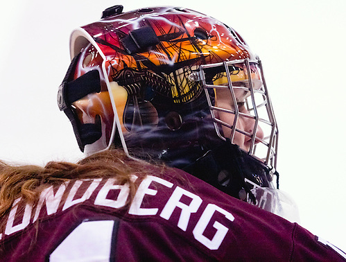 Shenae Lundberg (Union - 1). Princeton honored the 2012 senior class, as the Tigers defeated Union 3-0 at Hobey Baker Rink in Princeton, N.J. (Shelley M. Szwast)