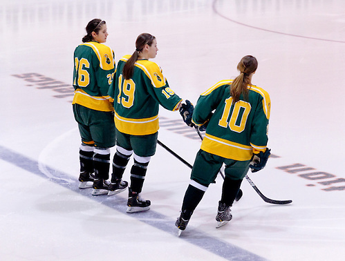 Jamie Lee Rattray (Clarkson - 26), Carly Mercer (Clarkson - 19), and Brittany Styner (Clarkson - 10). (Shelley M. Szwast)