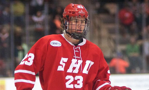 Jordan Minello - (23 - Sacred Heart) had a goal in a 2-1 win at RIT (Omar Phillips)