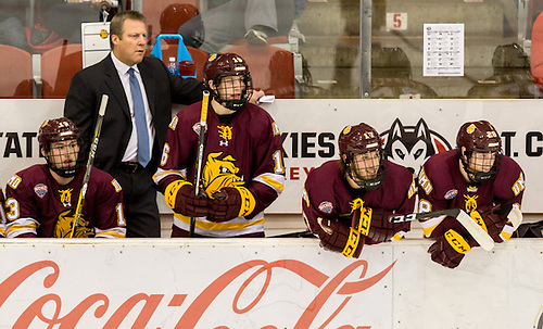 16 November 05 University of Minnesota Duluth and St. Cloud State University  meet in a NCHC conference contest at Herb Brooks National Hockey Center (Bradley K. Olson)