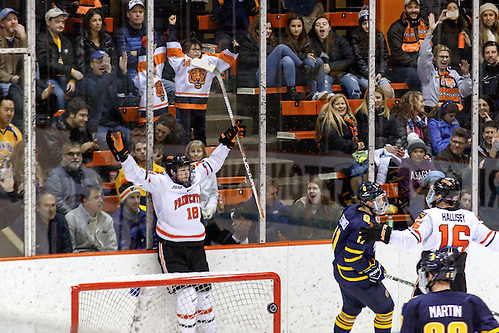 Eric Robinson  (Princeton - 18) scores an insurance goal to seal the win for Princeton. ((c) Shelley M. Szwast 2016)