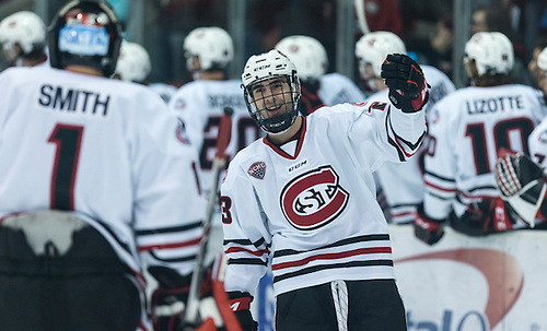 Robby Jackson (SCSU-23) 17 Jan.20  Denver Pioneers and St. Cloud State University meet in a NCHC conference match-up at theHerb Brooks National Hockey Center (Bradley K. Olson)