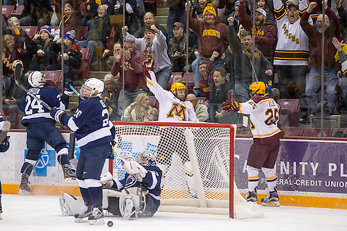 03 Feb 17:  Tyler Sheehy (Minnesota - 22).  The University of Minnesota Golden Gophers host the Penn State Nittany Lions in a B1G matchup at Mariucci Arena in Minneapolis, MN (Jim Rosvold/University of Minnesota)