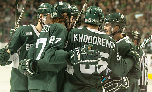 16 November 26 Michigan State University and University of North Dakota meet in a non conference contest at Ralph Engelstad Arena (Bradley K. Olson)